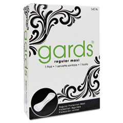 Gards Maxi Pads, #4, 250 Individually Boxed Napkins/Carton