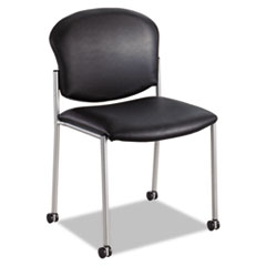 Diaz Guest Chair, Black Vinyl