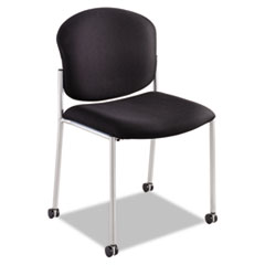 Diaz Guest Chair, Black Fabric