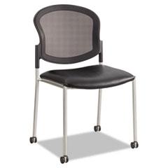 Diaz Guest Chair, Mesh Back/Vinyl Seat, Black