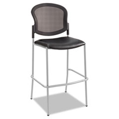 Diaz Bistro Chair, Mesh Back/Vinyl Seat, Black