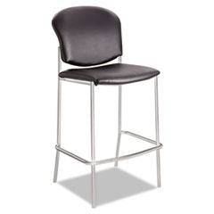 Diaz Bistro Chair, Black Vinyl