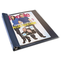 Catalog/Magazine Binder, 11 x 9 1/2, Clear Front, Navy Blue Back