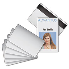 Blank PVC ID Badge Card with Magnetic Strip, 2 1/8 x 3 3/8, White, 100/PK