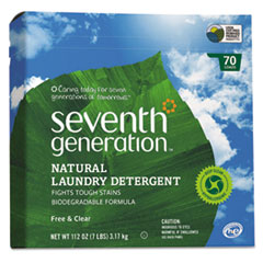 MotivationUSA Natural Powder Laundry Detergent, Free & Clear, 70 Loads, 112 oz Box, 4/CT