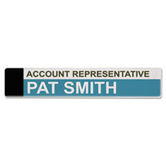 Panel Wall Sign Name Holder, Acrylic, 9 x 2, 6/Pack, Clear AVT75329
