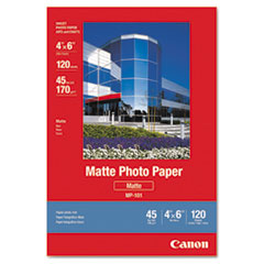 Matte Photo Paper, 4 x 6, 45 lb., White, 120 Sheets/Pack