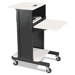 Adjustable Presentation Cart, 18w x 30d x 40-1/4h, Black/Gray BLT89759