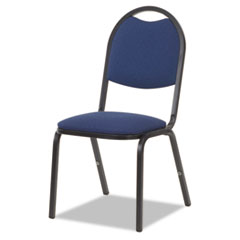 Fabric Upholstered Stack Chair, 18w x 22d x 35-1/2h, Sedona Blue/Black, 4/Carton