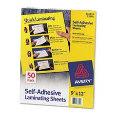 Clear Self-Adhesive Laminating Sheets, 3 mil, 9 x 12, 50/Box