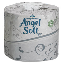 Angel Soft Toilet Paper, 2 Ply, 4x4 in, 450 sht/rl, 80 rl/ct GEP16880