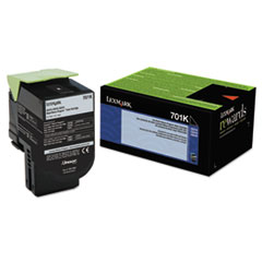 70C10K0 Toner (LEX-701K) 1000 Page-Yield, Black