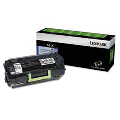 52D1X00 (LEX-521X) Extra High-Yield Toner, 45000 Page-Yield, Black
