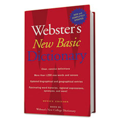 Websters New Basic Dictionary, Office Edition, Paperback, 896 Pages