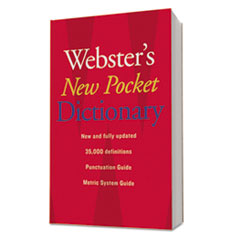 Websters New Pocket Dictionary, Paperback, 336 Pages