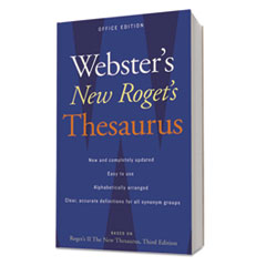 Websters New Rogets Thesaurus Office Edition, Paperback, 544 Pages