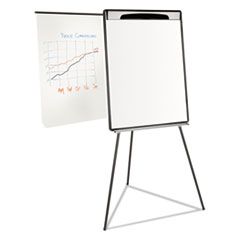 "COU - Magnetic Gold Ultra Dry Erase Tripod Easel W/ Ext Arms, 32"" to 72"", Black/Silver"