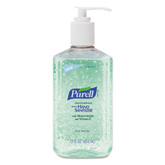 Advanced Instant Hand Sanitizer w/Aloe, 12oz Pump Bottle, 12/Carton GOJ363912CT