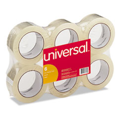 "General-Purpose Box Sealing Tape, 48mm x 54.8m, 3"" Core, Clear, 6/Pack UNV63000"