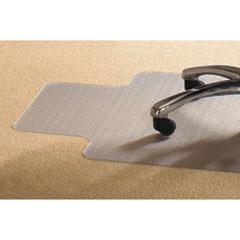 PVC Chair Mat for Standard Pile Carpet, 36 x 48, 20 x 12 Lip, Clear