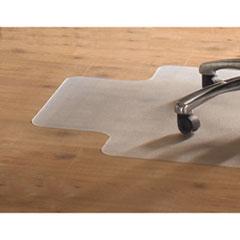 PVC Chair Mat for Hard Floors, 36 x 48, 10 x 20 Lip, Clear