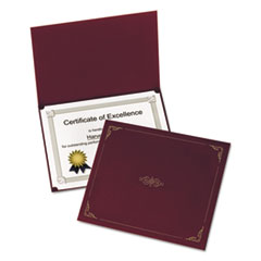 Certificate Holder, 11 1/4 x 8 3/4, Burgundy, 5/Pack