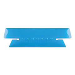 Transparent Colored Tabs For Hanging File Folders, 1/3-Cut Tabs, Blue, 3.5
