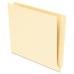 Anti Mold and Mildew End Tab File Folders, Straight Tab, Letter, Manila, 75/Box