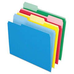 Colored File Folders, 1/3 Cut Top Tab, Letter, Assorted Colors, 24/Pack