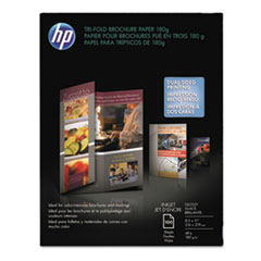 Inkjet Tri-Fold Brochure Paper, 98 Brightness, 48lb, 8-1/2 x 11, White, 100/Pack