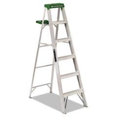 #428 Six-Foot Folding Aluminum Step Ladder, Green DADAS4006
