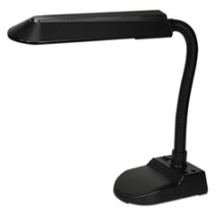 Economy Fluorescent Gooseneck Desk Lamp w/Pencil Holder Base, Matte Black LEDL516MB