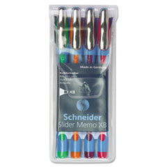 Schneider Memo XB Ballpoint Stick Pen, 1.4mm, Assorted Ink