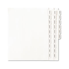 Allstate-Style Legal Exhibit Index Dividers, 25-Tab, Exhibit A-Z, Letter, White