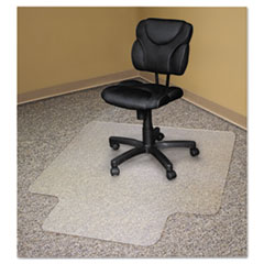 Recycled Chair Mats For Carpets, 53 x 45, Slightly Tinted