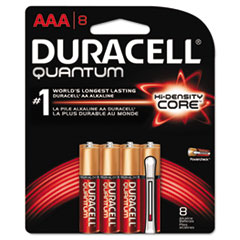Quantum Alkaline Batteries with Duralock Power Preserve Technology, AAA,8/Pk