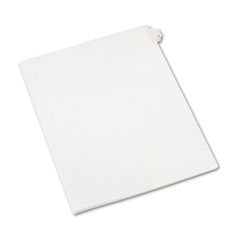 Allstate-Style Legal Exhibit Side Tab Divider, Title: 2, Letter, White, 25/Pack