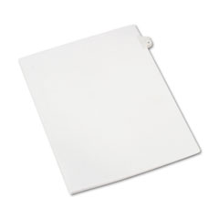 MotivationUSA * Allstate-Style Legal Side Tab Divider, Title: 4, Letter, White, 25/Pac at Sears.com