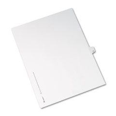 Allstate-Style Legal Exhibit Side Tab Divider, Title: 11, Letter, White, 25/Pack