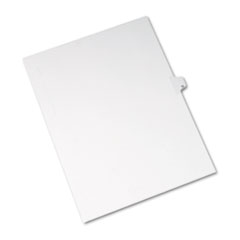 Allstate-Style Legal Exhibit Side Tab Divider, Title: 12, Letter, White, 25/Pack
