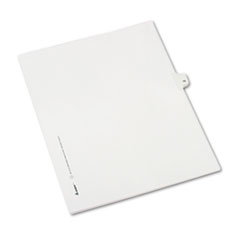 Allstate-Style Legal Exhibit Side Tab Divider, Title: 15, Letter, White, 25/Pack