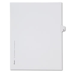 Allstate-Style Legal Exhibit Side Tab Divider, Title: 16, Letter, White, 25/Pack