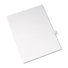 Allstate-Style Legal Exhibit Side Tab Divider, Title: 17, Letter, White, 25/Pack