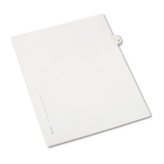 Allstate-Style Legal Exhibit Side Tab Divider, Title: 19, Letter, White, 25/Pack