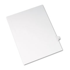 Allstate-Style Legal Exhibit Side Tab Divider, Title: 20, Letter, White, 25/Pack