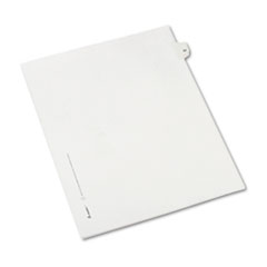 Allstate-Style Legal Exhibit Side Tab Divider, Title: 22, Letter, White, 25/Pack