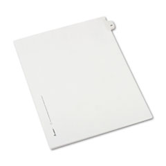 Allstate-Style Legal Exhibit Side Tab Divider, Title: 24, Letter, White, 25/Pack