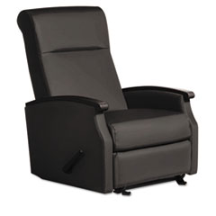 Florin Collection Room Saver Recliner, Black Vinyl