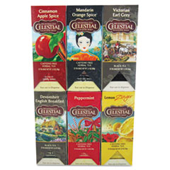 TEA, SIX ASSORTED FLAVORS, 25/FLAVOR, 150/CARTON