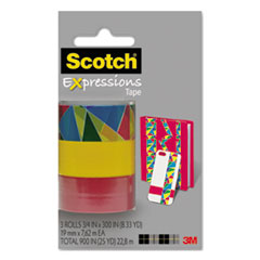 "Expressions Magic Tape, 3/4"" x 300"", Assorted Stained Glass, 3/Pack"